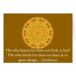 Confucius Quote  -  wearable wisdom Card