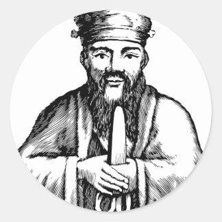 Confucius Round Sticker