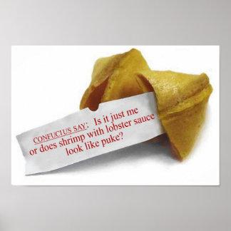 Confucius Say Fortune Cookie poster