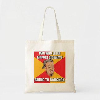 Confucius Say Going to Bangkok Budget Tote Bag