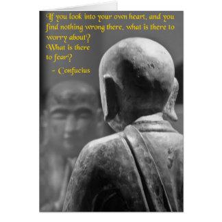 Confucius Says Card