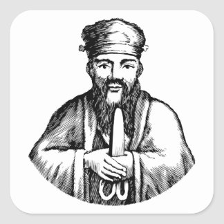 Confucius Square Sticker