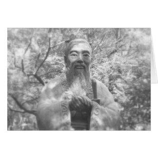 Confucius Statue Card