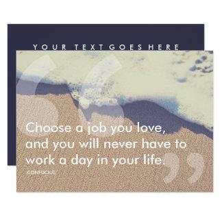 confucius success quote 9 cm x 13 cm invitation card