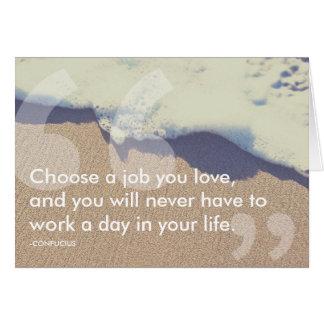 confucius success quote card