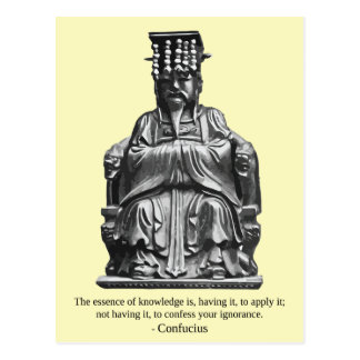 Confucius 'The essence of knowledge' Quote Postcard