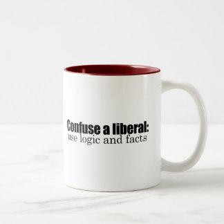 Confuse a liberal Two-Tone mug