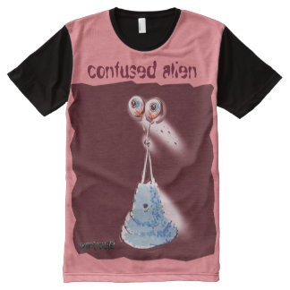 confused alien illustration All-Over print T-Shirt