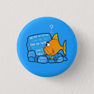 Confused Clownfish 3 Cm Round Badge