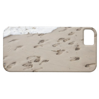 Confused Footsteps in the sand Barely There iPhone 5 Case