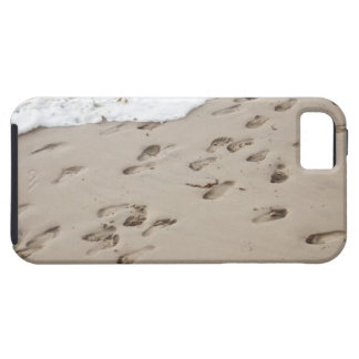 Confused Footsteps in the sand iPhone 5 Cases