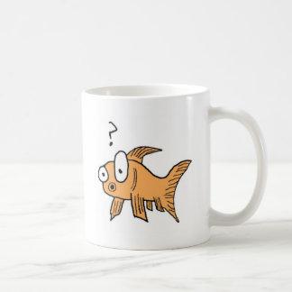 Confused Goldfish Basic White Mug