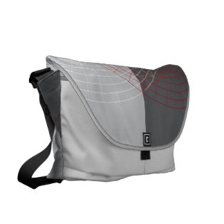 Confused lines geometric design courier bags