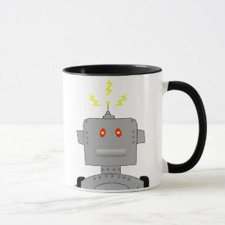 confused robot mug