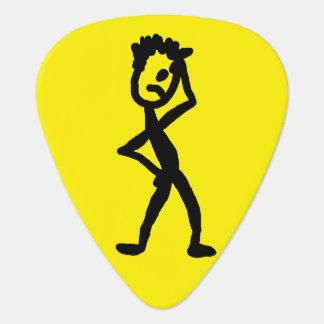 Confused Stick Figure Guitar Pick