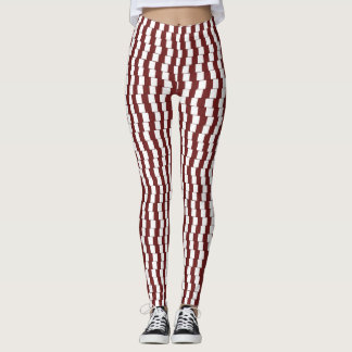 Confusing lines Bordeaux Leggings