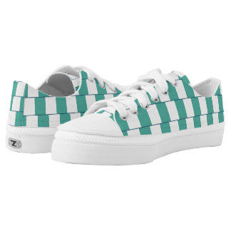 Confusing lines turquoise low tops