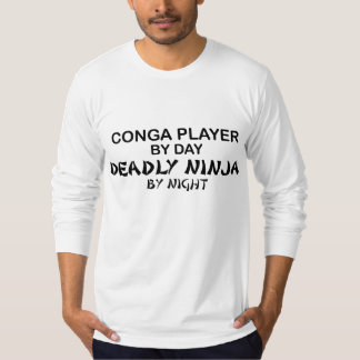 Conga Deadly Ninja by Night T-Shirt