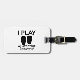 conga design luggage tag