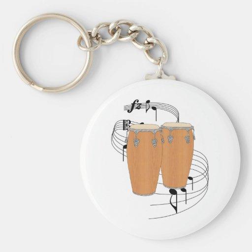Conga Drums Keychain