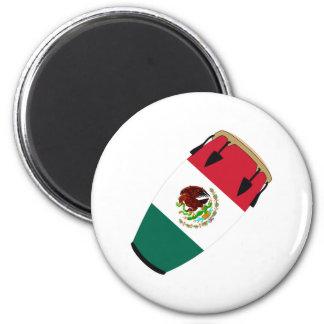 Conga Flag Mexico 6 Cm Round Magnet