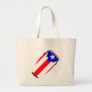 Conga Flag Puerto Rico Jumbo Tote Bag