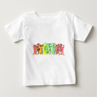 Conga Line Unicorns Baby T-Shirt