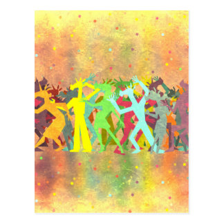 Conga Line Unicorns Postcard