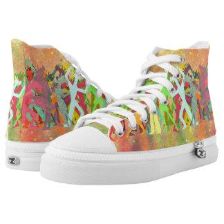 Conga Line Unicorns Printed Shoes