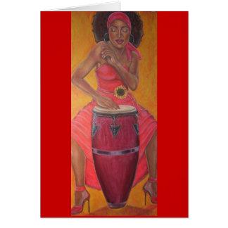"""""""Conga Woman"""" Card"""