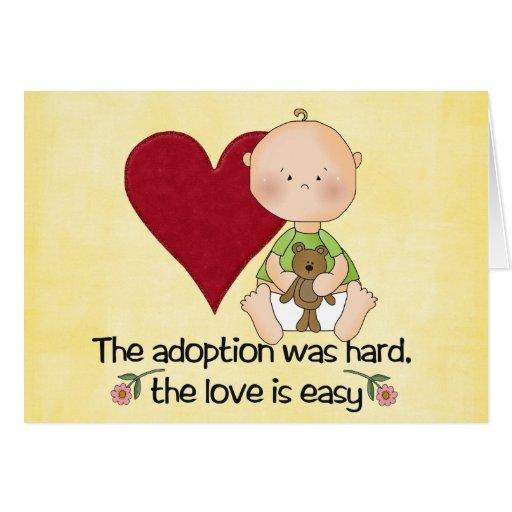 congatulations adoption card