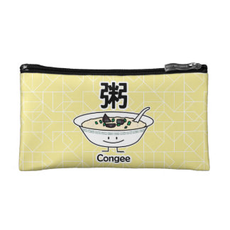 Congee Jook Rice porridge gruel bowl Chinese break Cosmetic Bag