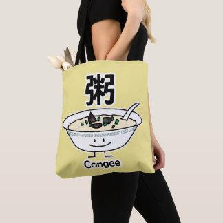 Congee Jook Rice porridge gruel bowl Chinese break Tote Bag