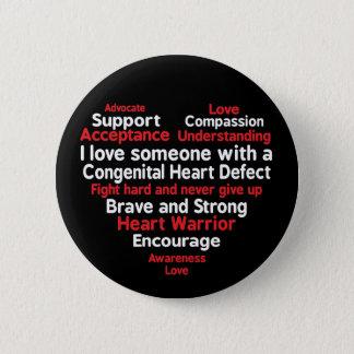 Congenital Heart Defect Awareness Week Support 6 Cm Round Badge