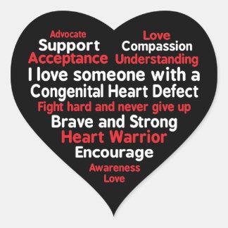 Congenital Heart Defect Awareness Week Support Heart Sticker
