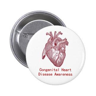 Congenital Heart Disease Awareness Button