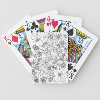 Conglomeration of Flowers Bicycle Playing Cards