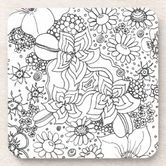 Conglomeration of Flowers Coaster