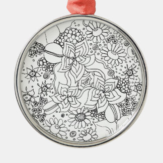 Conglomeration of Flowers Metal Ornament