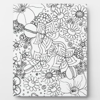 Conglomeration of Flowers Plaque