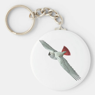 Congo African Grey Parrot Basic Round Button Key Ring