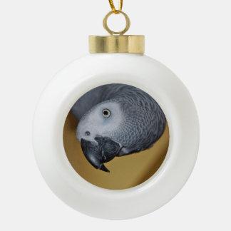 Congo African Grey Parrot Hello Ceramic Ball Decoration