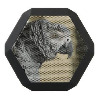 Congo African Grey Parrot with Ruffled Feathers Black Boombot Rex Bluetooth Speaker