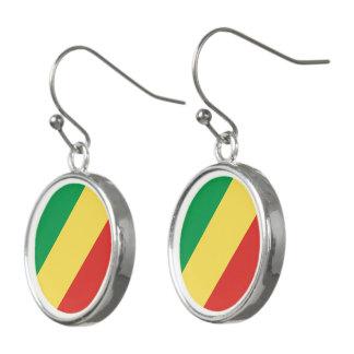 Congo-Brazzaville Flag Earrings