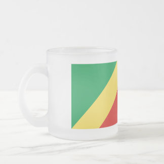 Congo-Brazzaville Flag Frosted Glass Coffee Mug