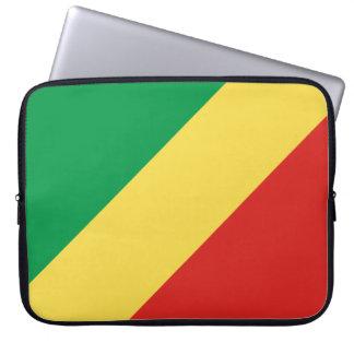 Congo-Brazzaville Flag Laptop Sleeve