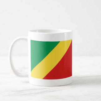 Congo-Brazzaville Flag ~ Map Mug