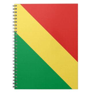 Congo-Brazzaville Flag Notebook