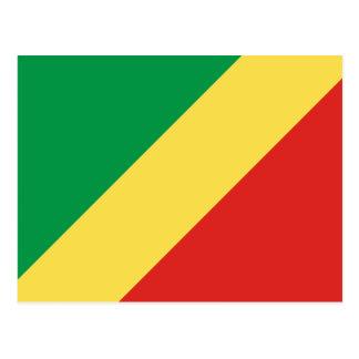 Congo-Brazzaville Flag Postcard