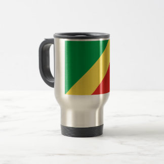 Congo-Brazzaville Flag Travel Mug